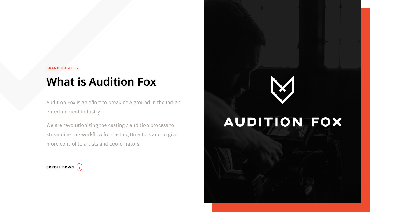 Audition Fox - Artist and Audition Mobile App UI UX Design